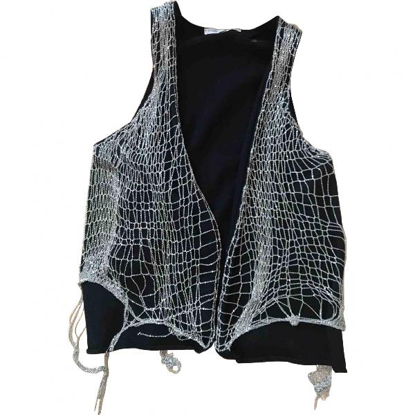 Maje Black Linen Knitwear