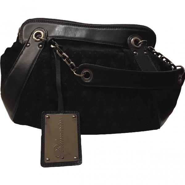 Blumarine Black Suede Handbag