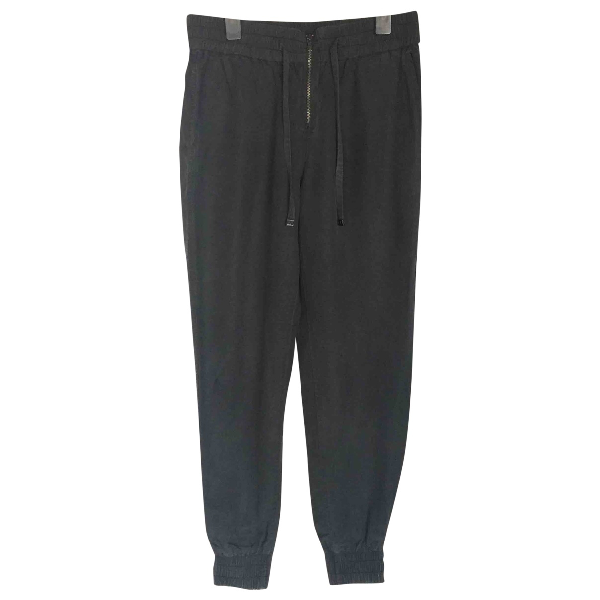 Calvin Klein Anthracite Cotton Trousers