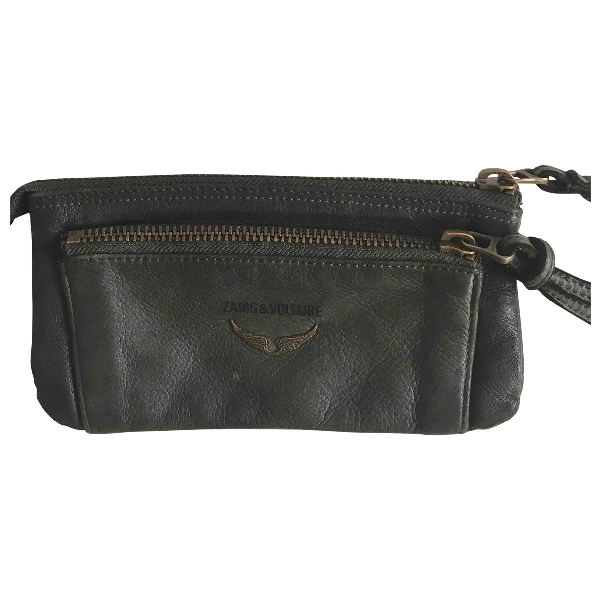 Zadig & Voltaire Green Leather Wallet