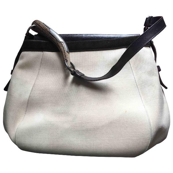 Saint Laurent Mombasa Beige Cloth Handbag