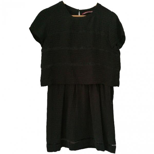 Comptoir Des Cotonniers Black Silk Dress