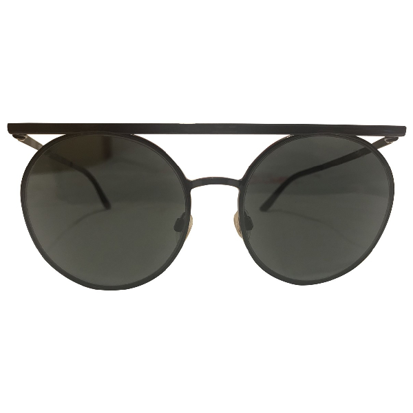 Giorgio Armani Black Metal Sunglasses