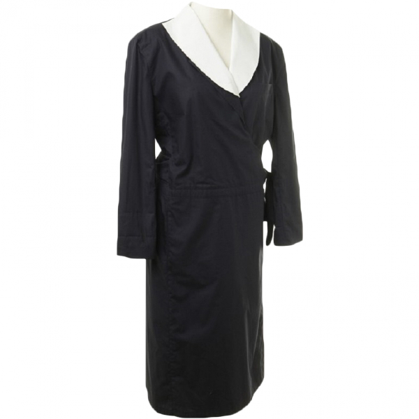 Giorgio Armani Navy Cotton Dress