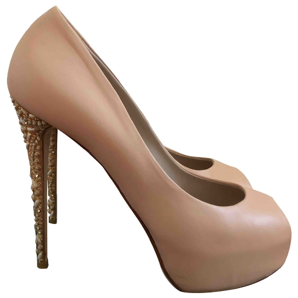 Le Silla Pink Leather Heels