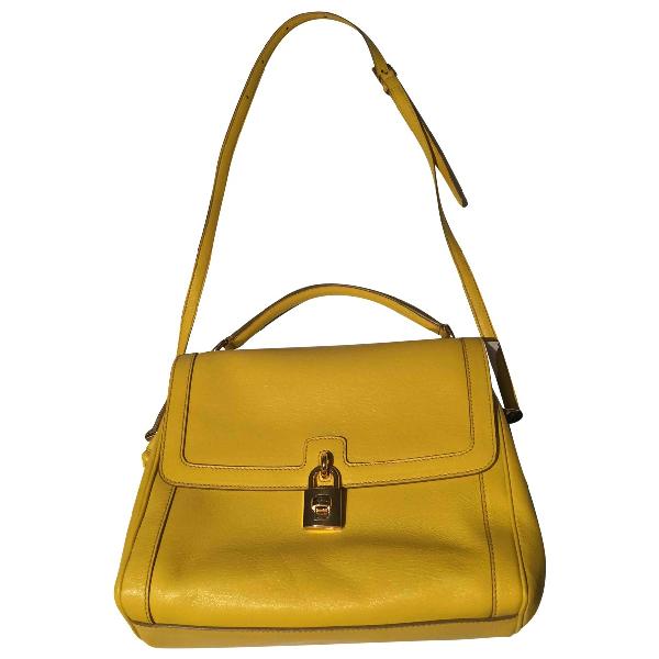 Dolce & Gabbana Yellow Leather Handbag