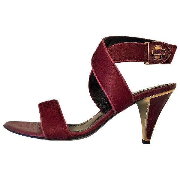 Hugo Boss Burgundy Leather Heels