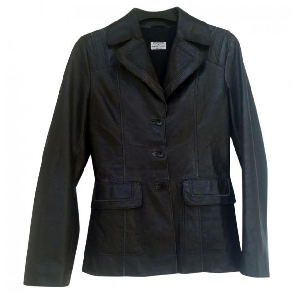 Philosophy Di Alberta Ferretti Black Leather Jacket