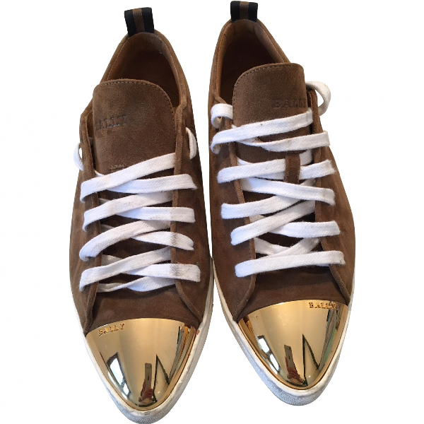 Bally Brown Suede Trainers
