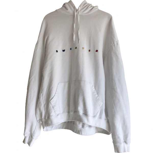 Vetements White Cotton  Top