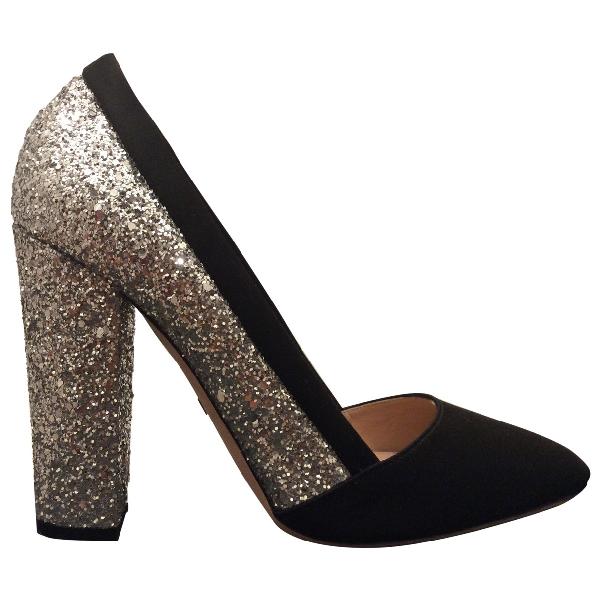 Giambattista Valli Black Glitter Heels
