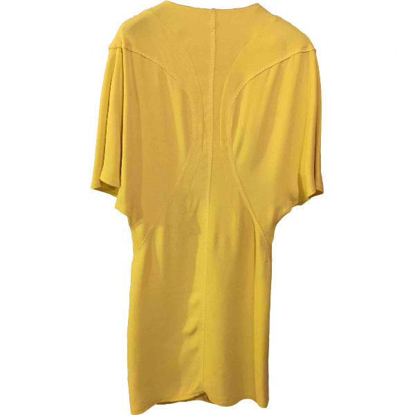 Salvatore Ferragamo Yellow Silk Dress