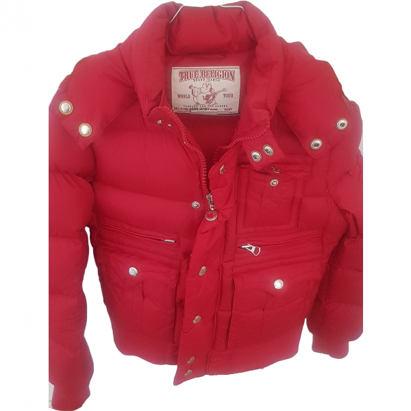 True Religion Red Leather Jacket