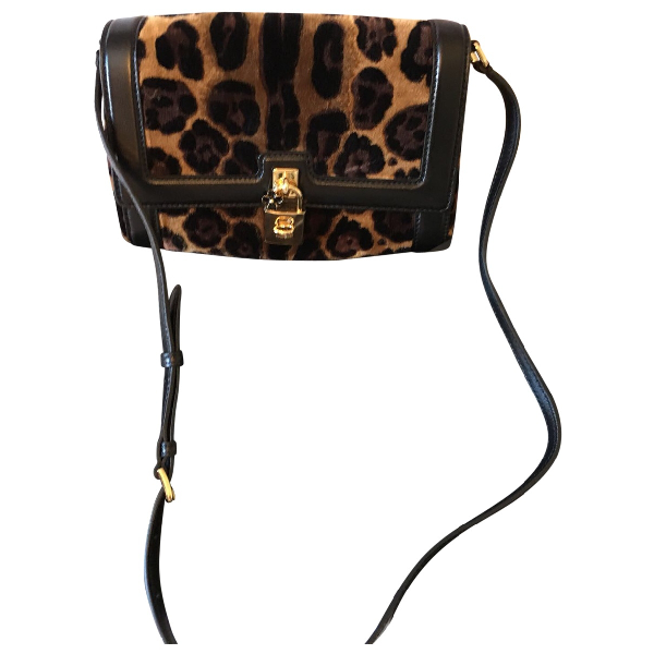 Dolce & Gabbana Black Suede Handbag
