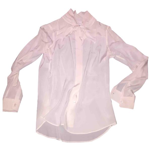 Moschino White Silk  Top