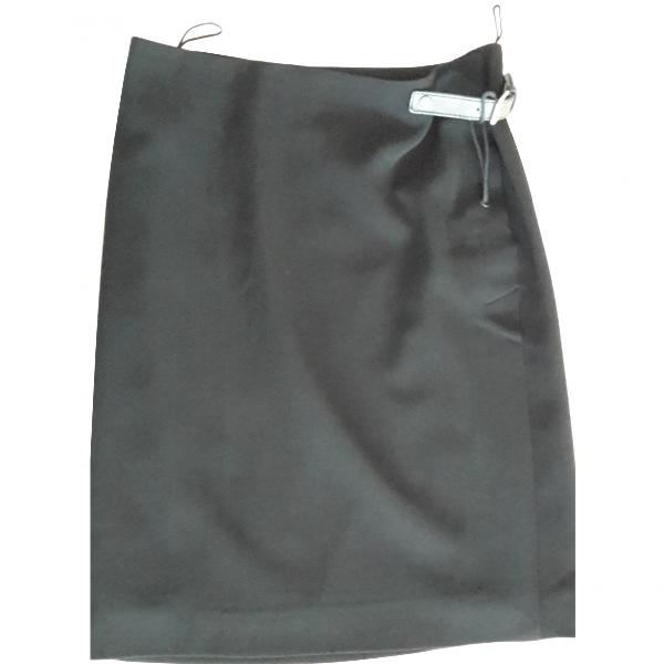 Jean Paul Gaultier Black Wool Skirt