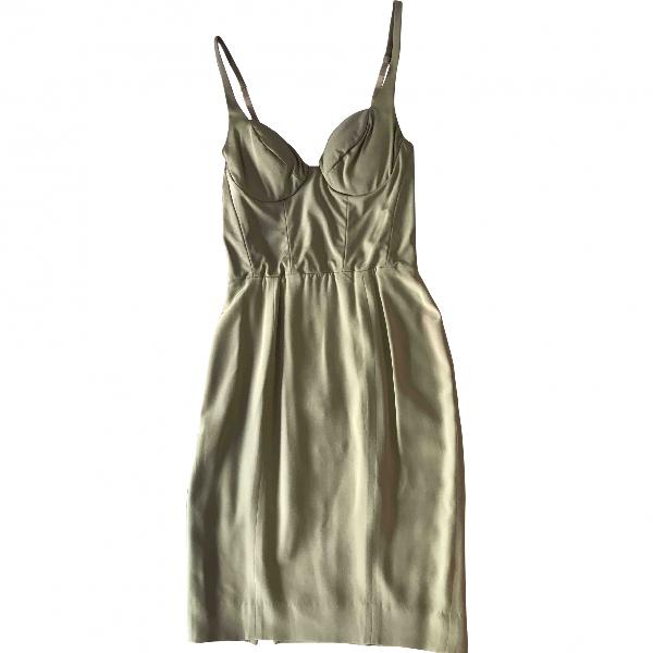 Donna Karan Beige Silk Dress