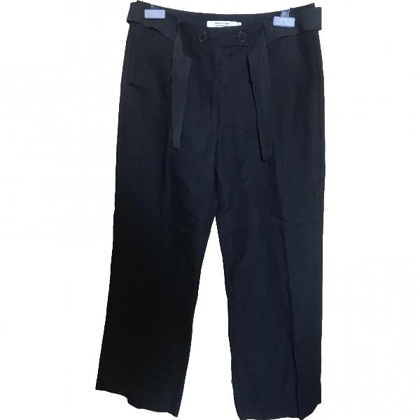 Comptoir Des Cotonniers Black Linen Trousers