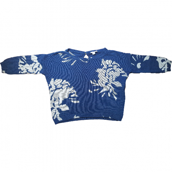 Marella Blue Cotton Knitwear