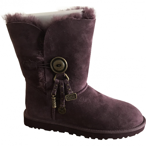 Ugg Purple Suede Boots