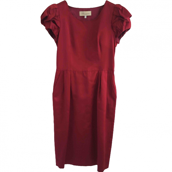 Blumarine Burgundy Dress