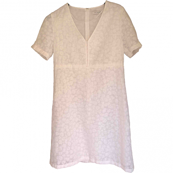 Gerard Darel White Cotton Dress