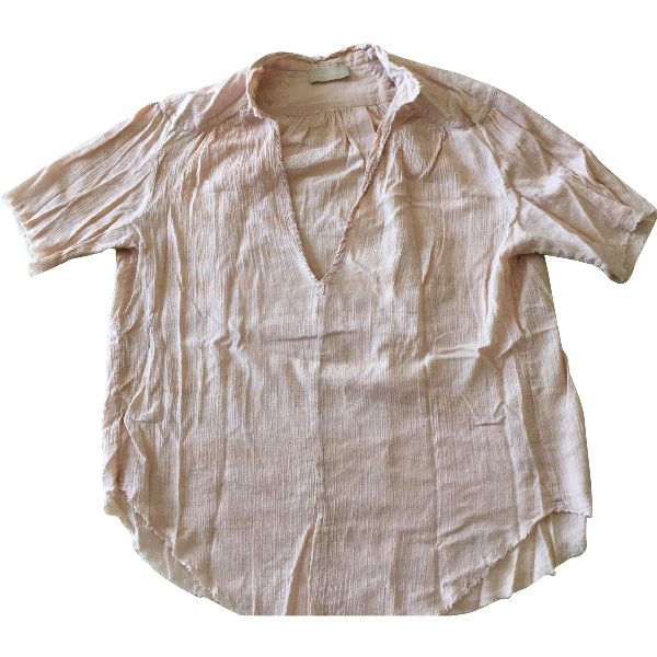 Zadig & Voltaire Pink Cotton  Top