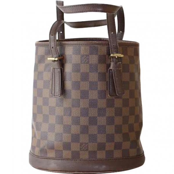 Louis Vuitton Bucket  Brown Cloth Handbag
