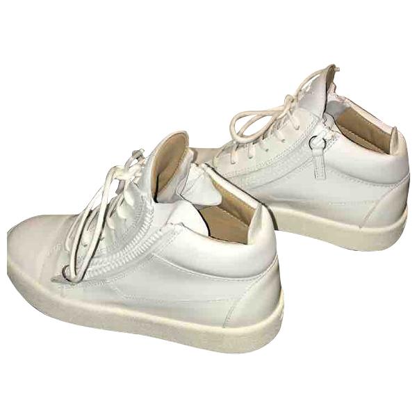 Giuseppe Zanotti White Leather Trainers