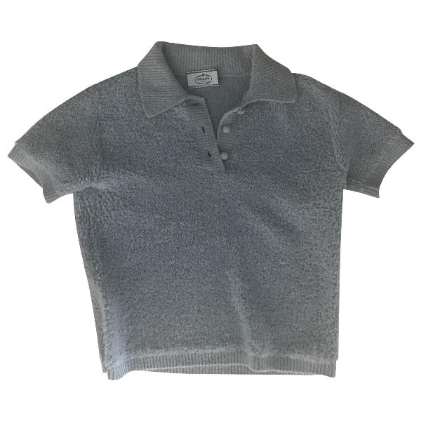 Prada Blue Wool Knitwear
