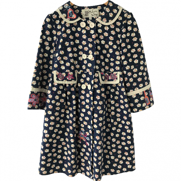 Topshop Tophop  Blue Cotton Coat