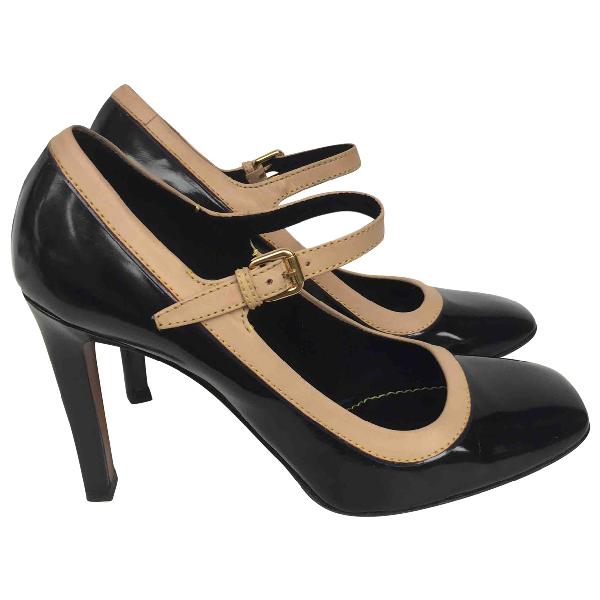 Louis Vuitton Black Leather Heels