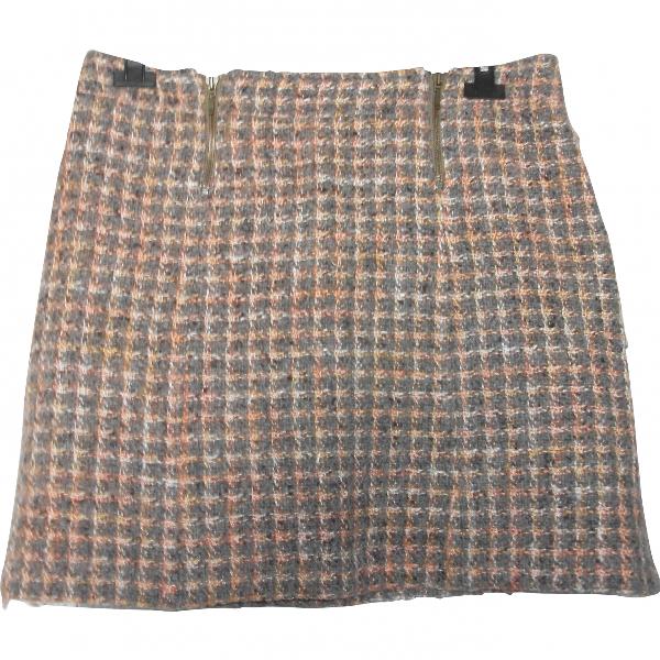 Gerard Darel Beige Wool Skirt