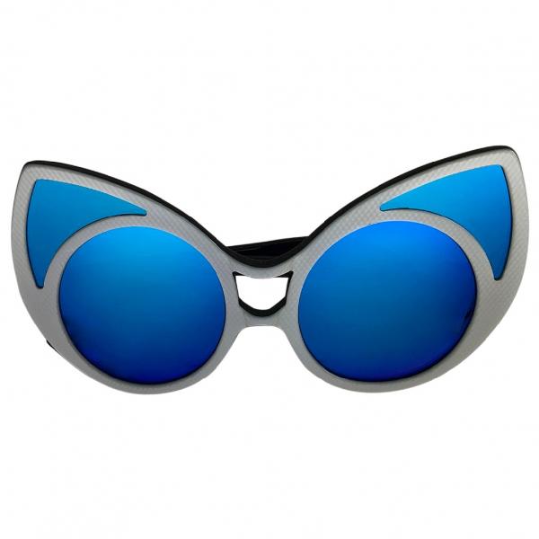 Linda Farrow Blue Metal Sunglasses