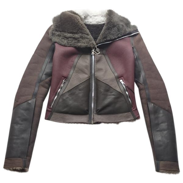 Rick Owens Brown Leather Jacket