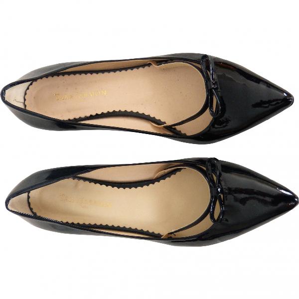 Tara Jarmon Black Patent Leather Flats