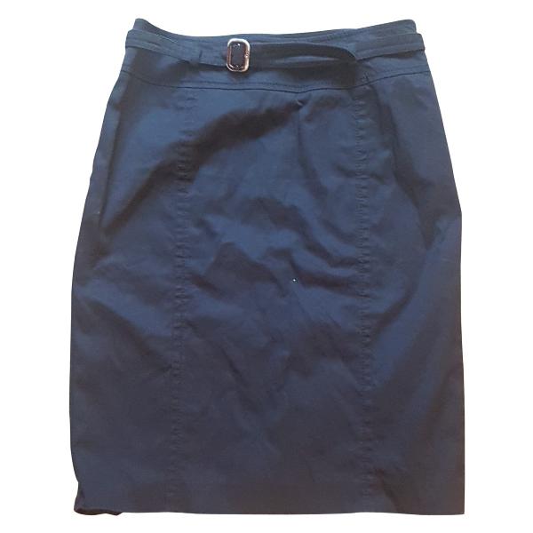 Max Mara Blue Cotton Skirt