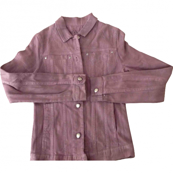 Zadig & Voltaire Cotton Leather Jacket
