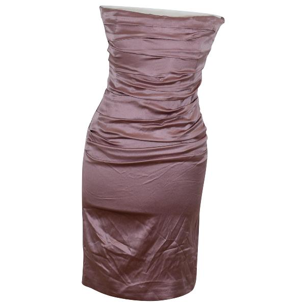 Dolce & Gabbana Pink Silk Dress