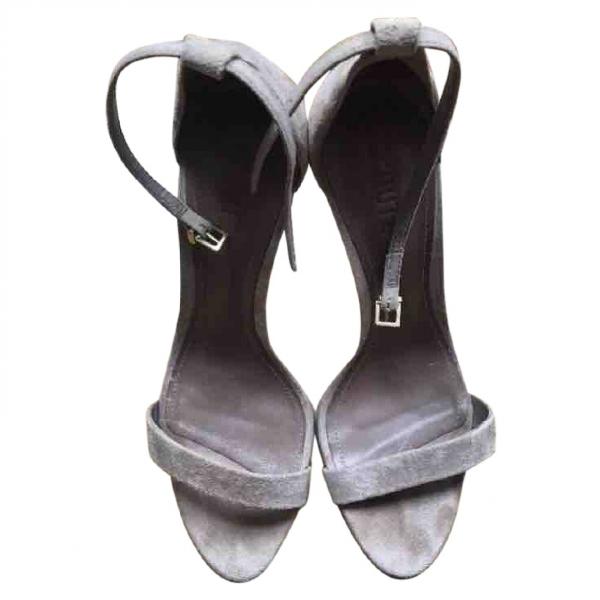 Schutz Beige Suede Sandals