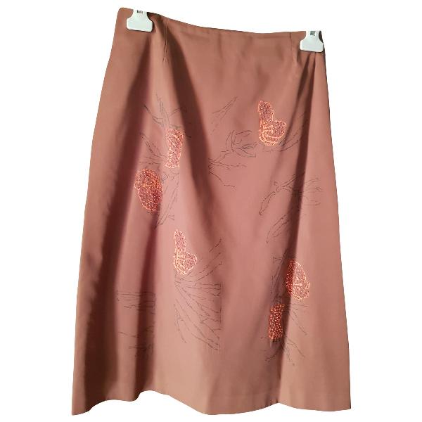 Alberta Ferretti Brown Silk Skirt