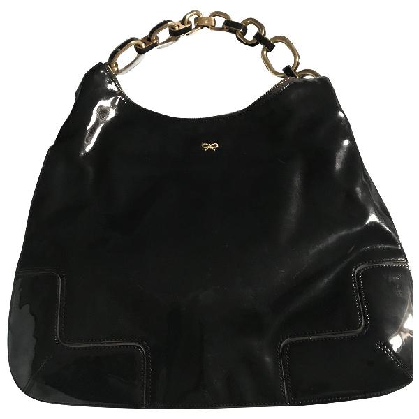 Anya Hindmarch Navy Patent Leather Handbag