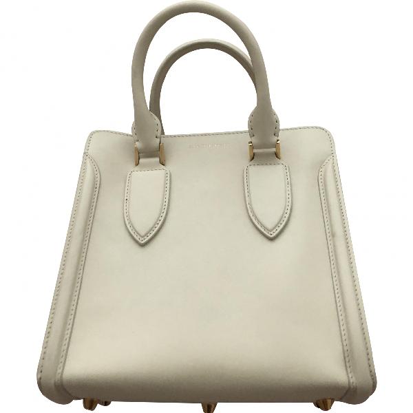 Alexander Mcqueen ZippÉ White Leather Handbag