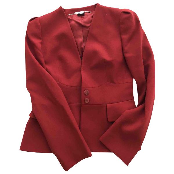 Alexander Mcqueen Red Wool Jacket