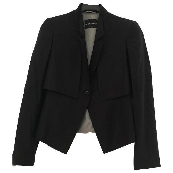 Emporio Armani Black Cotton Jacket