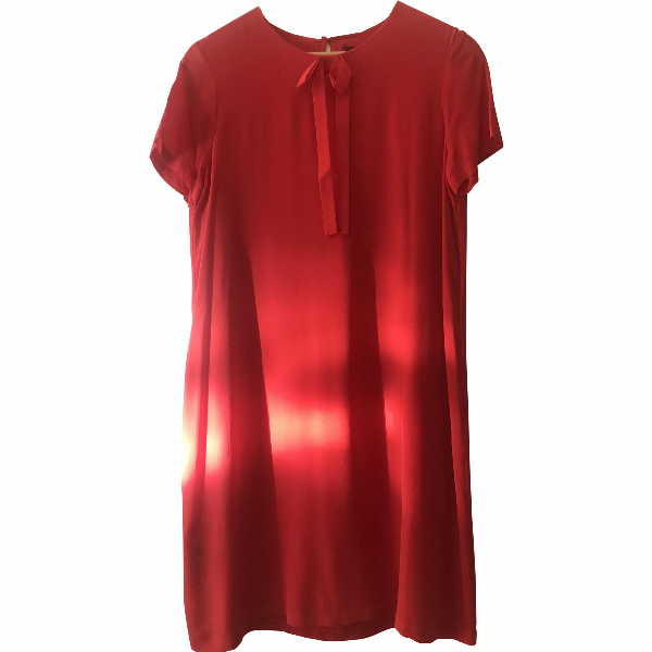 Comptoir Des Cotonniers Red Silk Dress