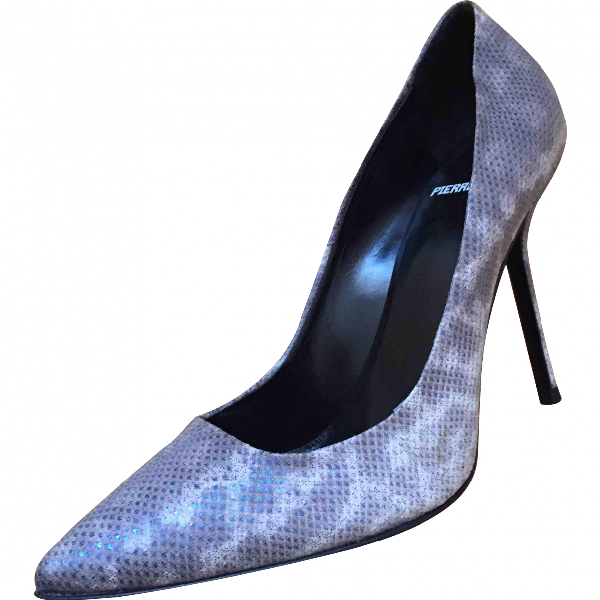 Pierre Hardy Metallic Leather Heels