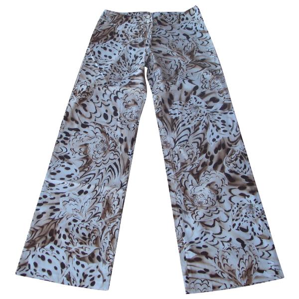 Versace Beige Cotton Trousers