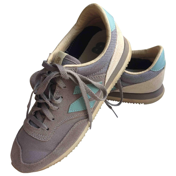 New Balance Grey Suede Trainers