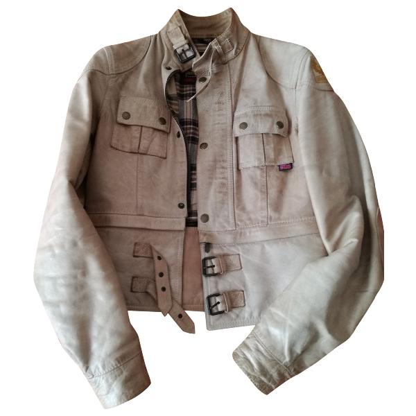 Belstaff Beige Leather Leather Jacket